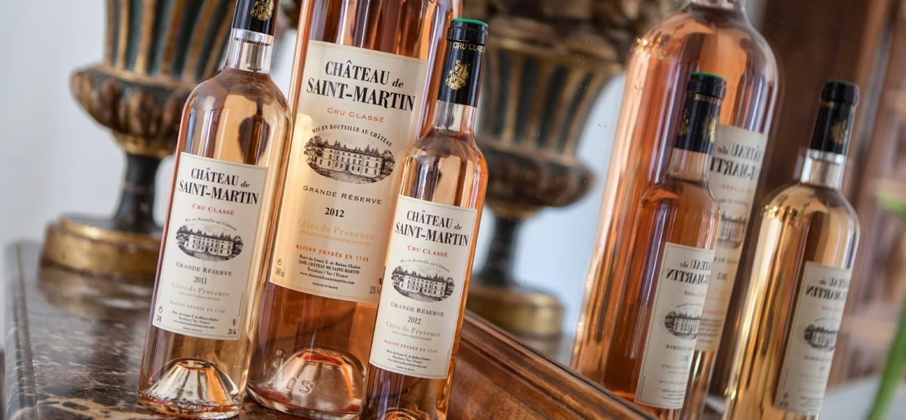Les vins du Château de Saint-Martin